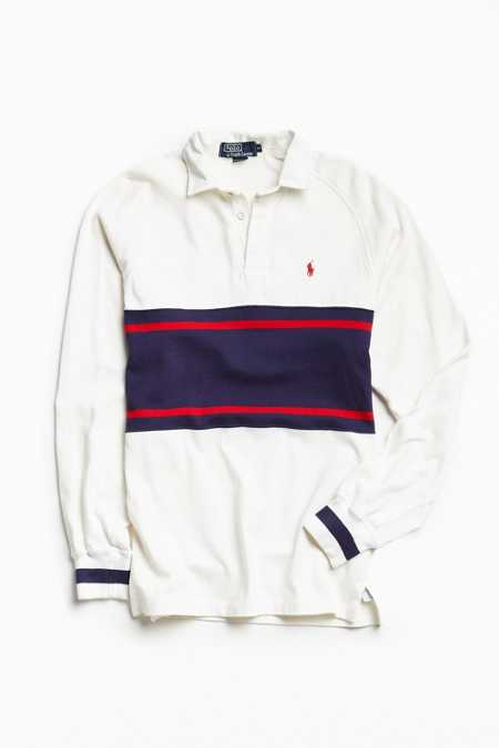 Vintage Polo By Ralph Lauren Chest Stripe Rugby Shirt