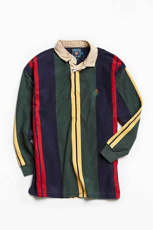 Vintage Chaps Rugby Shirt,MULTI,M
