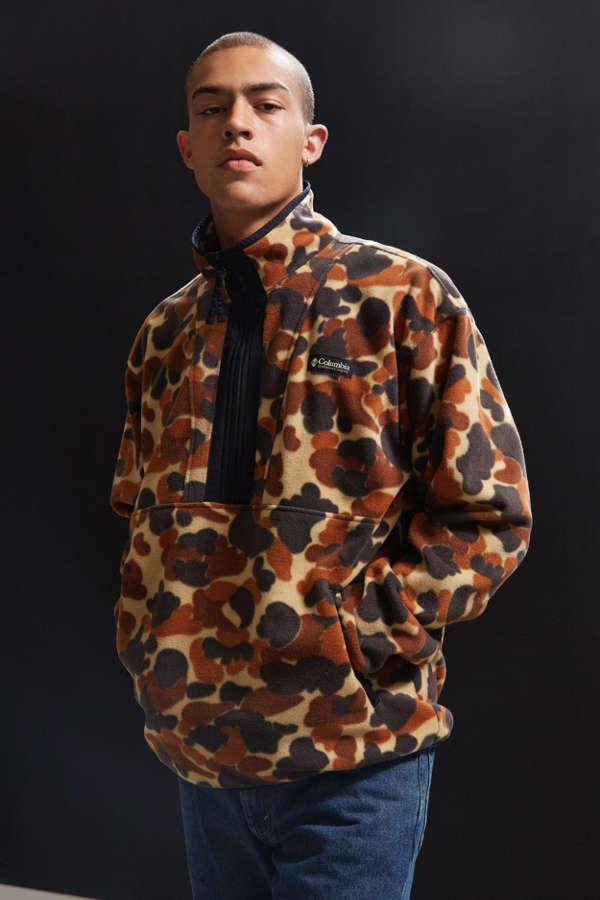 41d18e99984a6 Adidas Originals X Pharrell Williams Hu Hiking Half Zip Windbreaker In Camo  Print Cy7871