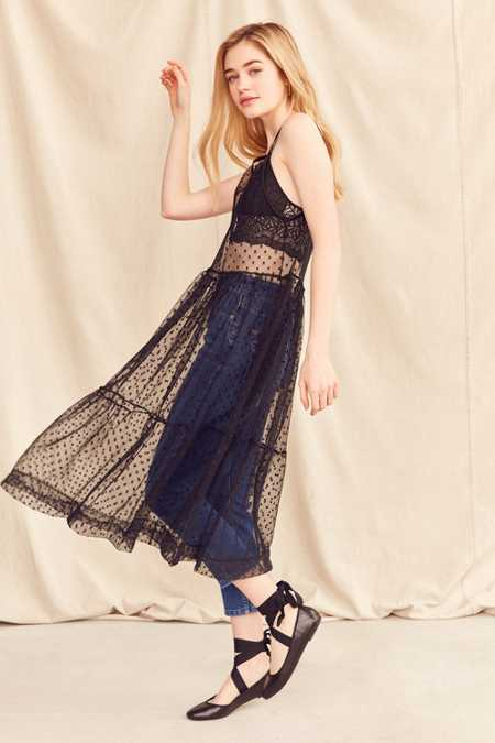 Urban Renewal Remade Sheer Mesh Midi Slip Dress