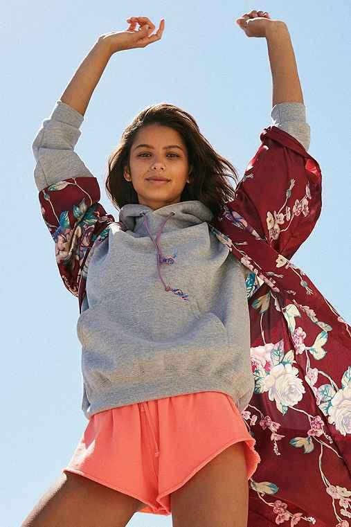 Urban Renewal Recycled Bungee Cord Hoodie Sweatshirt,GREY,M/L