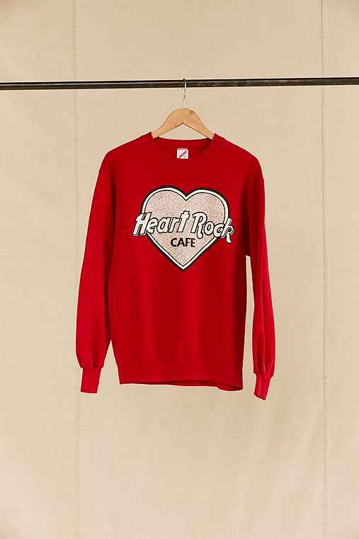 Vintage Heart Rock Cafe Sweatshirt,ASSORTED,ONE SIZE