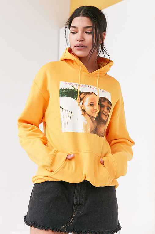 Smashing Pumpkins Hoodie Sweatshirt,GOLD,XL