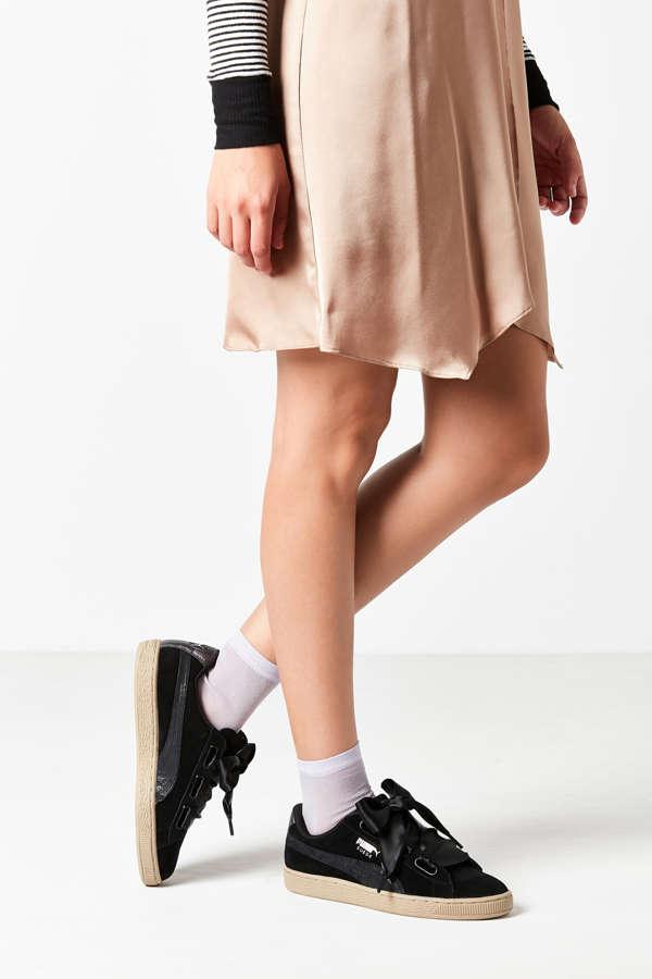 brand new 869a1 d3a89 Puma Basket Heart Metallic Safari Sneaker Urban Outfitters ...
