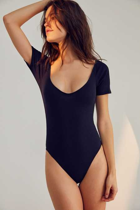 Out From Under Hailee Ribbed V-Neck Bodysuit