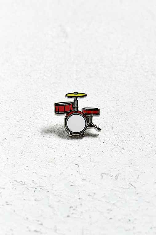 UO Drums Pin,RED,ONE SIZE