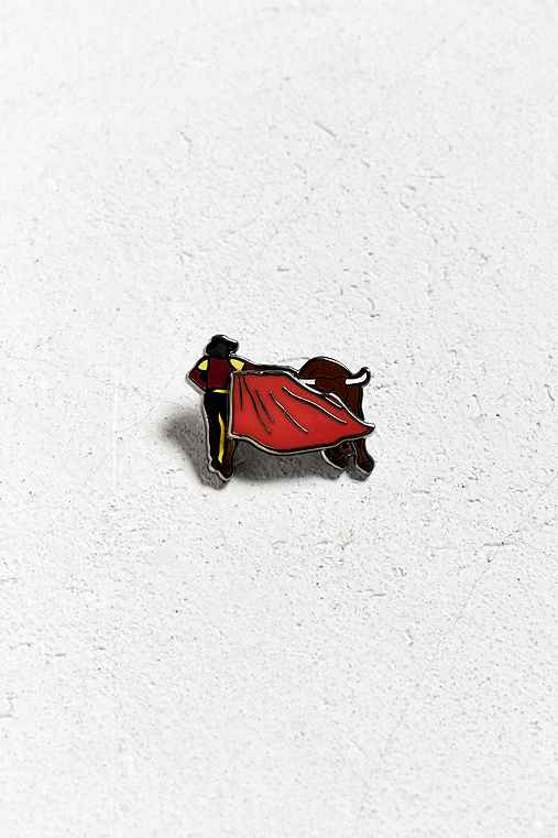 Pintrill Taurus Pin,RED,ONE SIZE