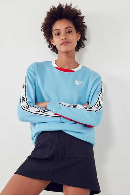Reebok Colorblock Vector Crew-Neck Sweatshirt