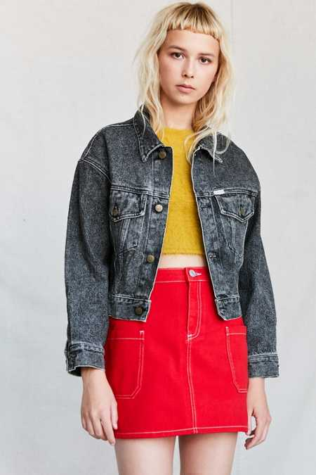 Vintage GUESS By Marciano '80s Black Denim Jacket