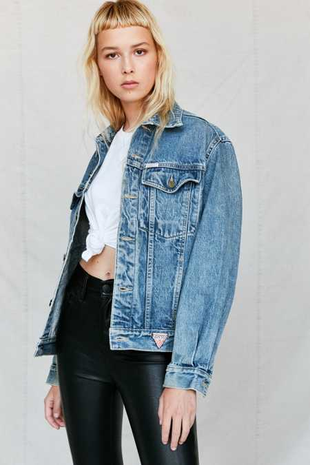 Vintage GUESS By Marciano '90s 4-Pocket Denim Trucker Jacket