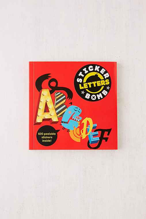 Stickerbomb Letters By Studio Rarekwai,ASSORTED,ONE SIZE