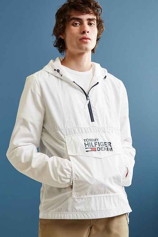 Tommy Hilfiger Windbreaker Jacket,WHITE,S