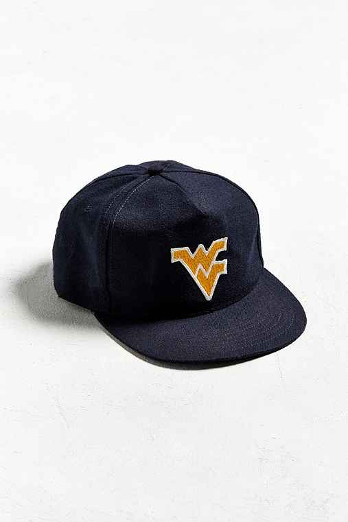 Vintage West Virginia Snapback Hat,NAVY,ONE SIZE