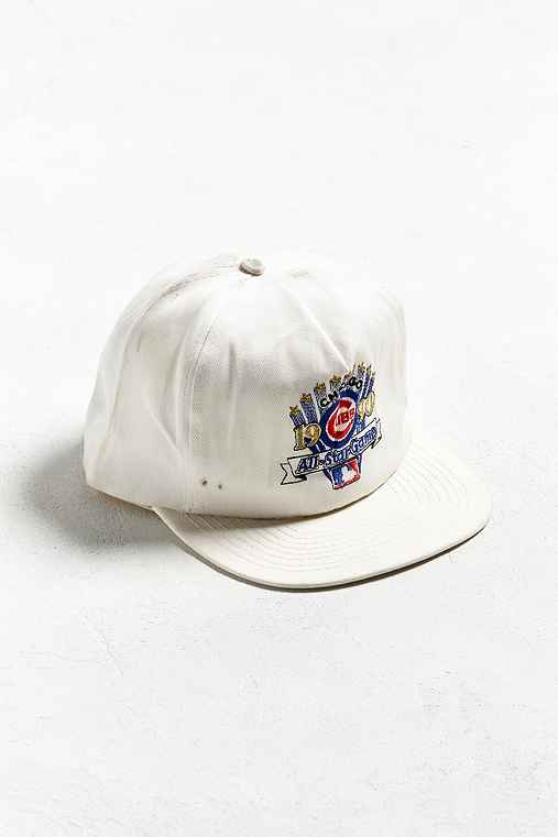 Vintage Chicago Cubs Snapback Hat,WHITE,ONE SIZE
