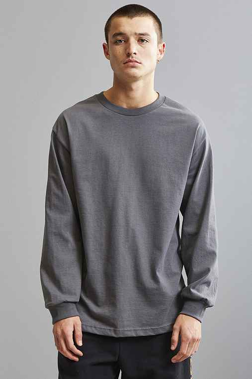 Alstyle Long Sleeve Tee,CHARCOAL,L