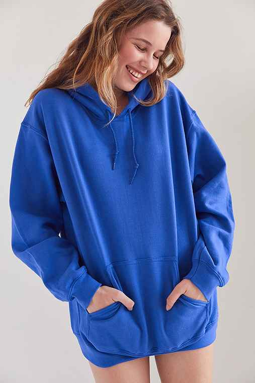 Silence + Noise All Day Hoodie Sweatshirt,BLUE,L