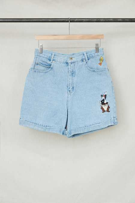 Vintage Looney Tunes Embroidered Denim Short