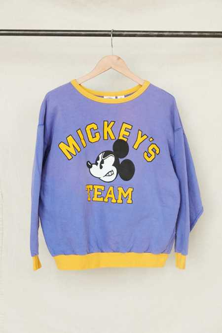 Vintage Mickey's Team Crew Neck Sweatshirt