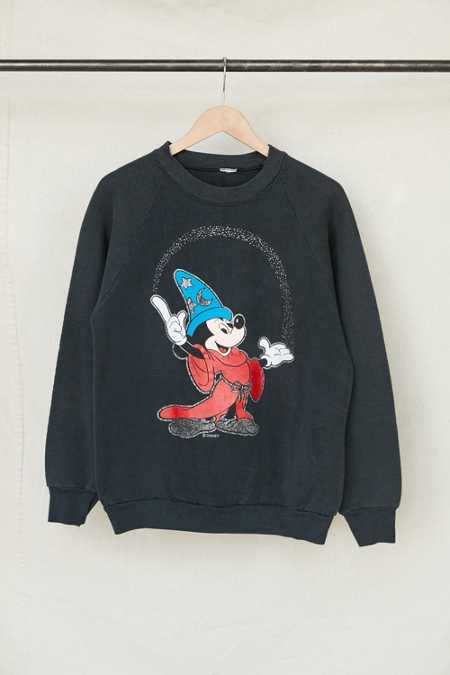 Vintage Wizard Mickey Mouse Crew Neck Sweatshirt