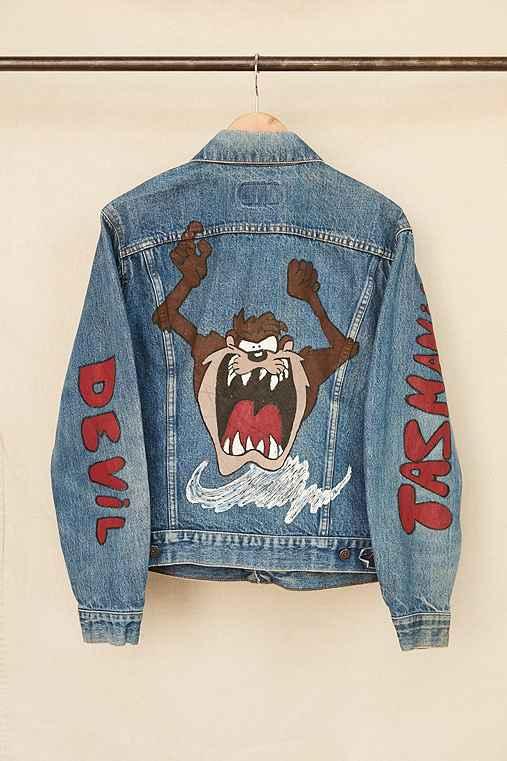 Vintage Taz Denim Jacket,ASSORTED,ONE SIZE