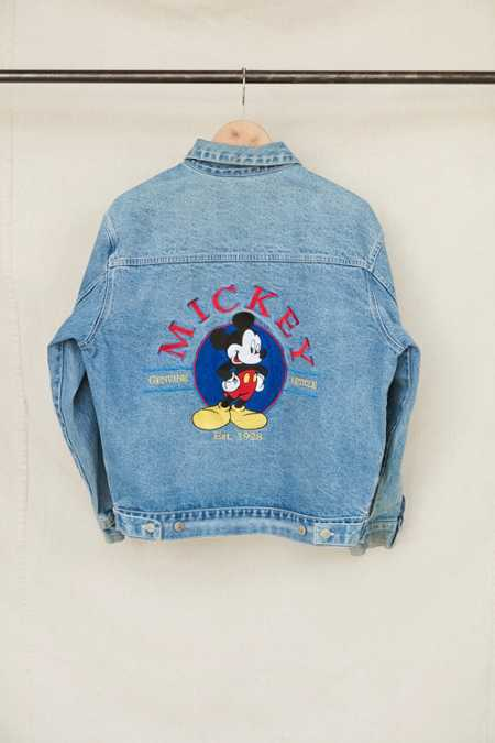 Vintage Mickey Mouse Embroidered Denim Jacket