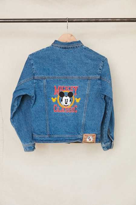 Vintage Mickey Mouse Classic Embroidered Denim Jacket