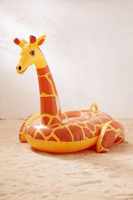 Giant Giraffe Pool Float,YELLOW,ONE SIZE