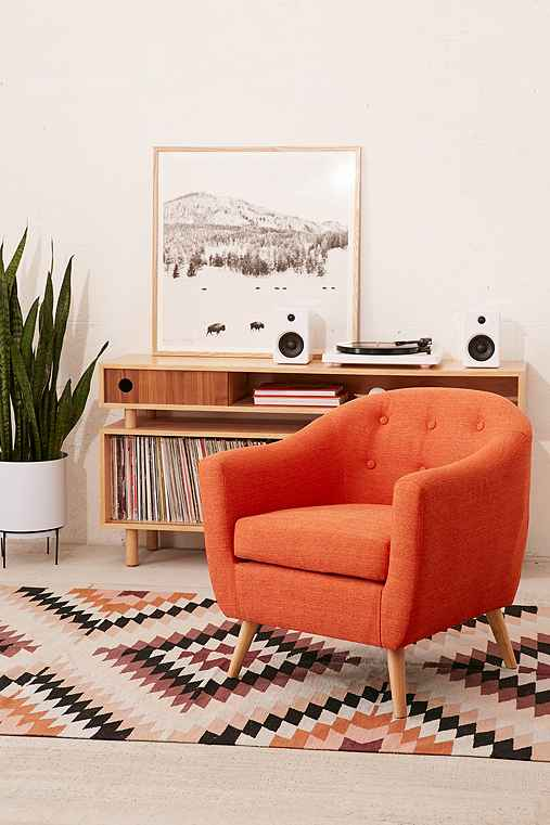 Rockwell Arm Chair,ORANGE,ONE SIZE