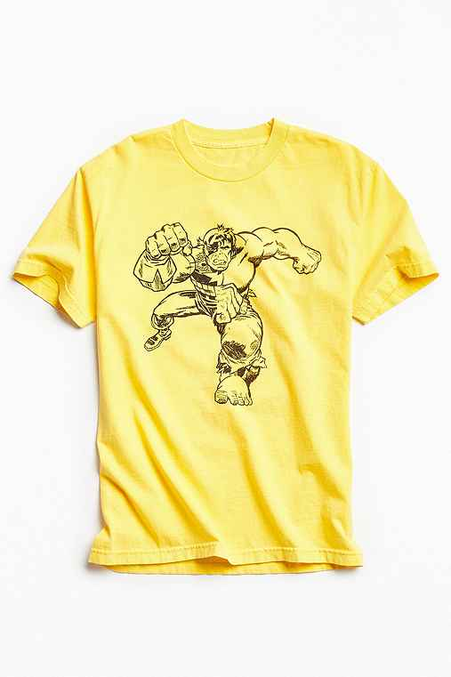 Kostas Seremetis X Marvel Hulk Split Tee,BRIGHT YELLOW,L