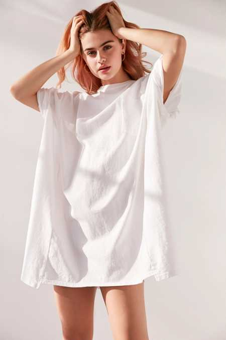 Silence + Noise Oversized Drop Shoulder Tee Dress