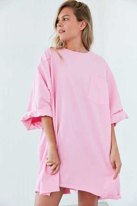 Silence + Noise Oversized Drop Shoulder T-Shirt Dress