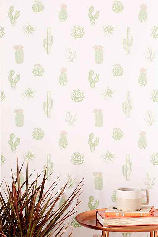 cactus icon removable wallpaper urban outfitters. Black Bedroom Furniture Sets. Home Design Ideas
