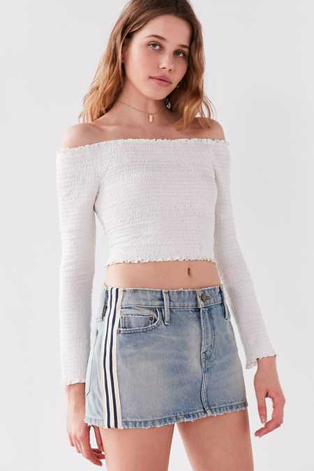 BDG Skate Striped Denim Mini Skirt