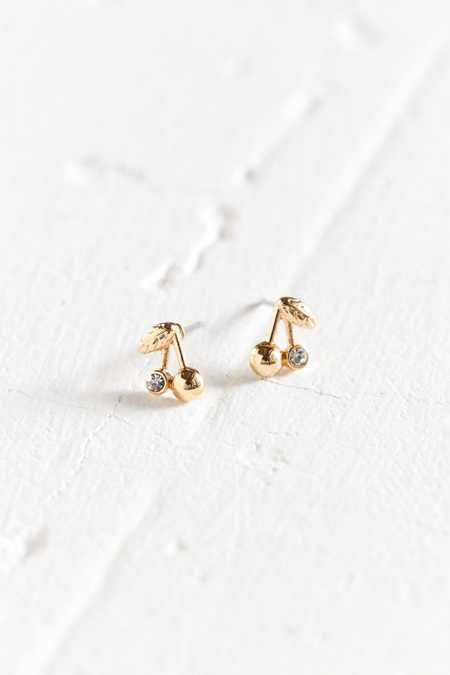 18k Gold-Plated Icon Post Earring