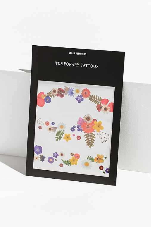 UO Floral Temporary Tattoo Set,ASSORTED,ONE SIZE