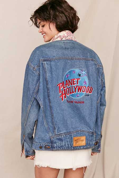 Vintage Planet Hollywood Lake Tahoe Denim Jacket