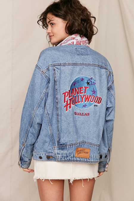 Vintage Planet Hollywood Dallas Denim Jacket