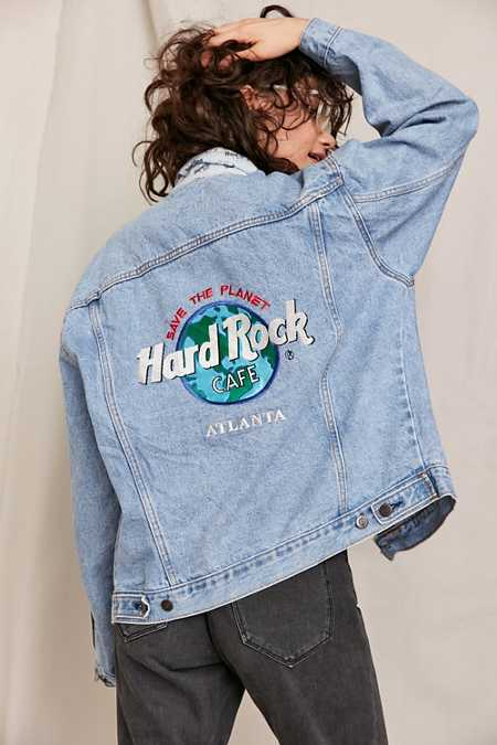 Vintage Hard Rock Atlanta Medium Wash Denim Jacket