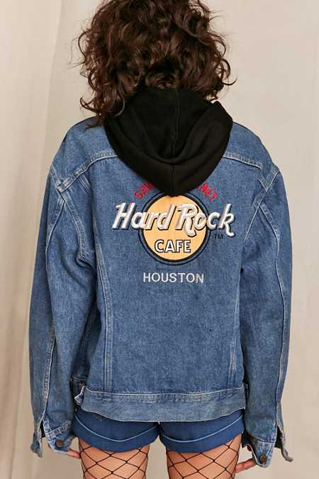 Vintage Hard Rock Houston Denim Jacket