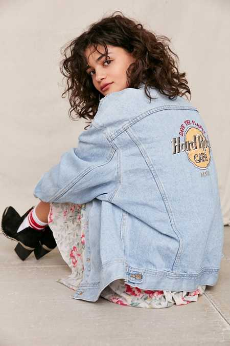 Vintage Hard Rock Maui Denim Jacket