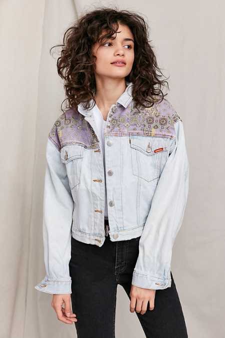 Vintage '90s Jordache Pieced Paisley Denim Jacket