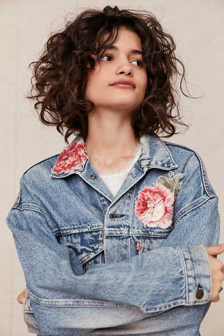 Vintage Levi's Floral Quilt Patch Denim Jacket