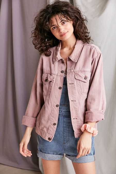 Vintage '90s Mauve Denim Jacket