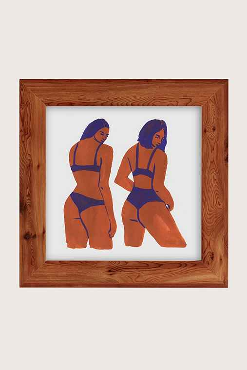 Leah Reena Goren Bikini Girls Art Print,CEDAR,16X16