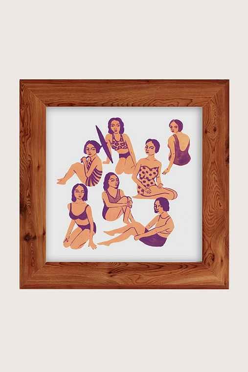 Leah Reena Goren Bathers Art Print,CEDAR,30X30