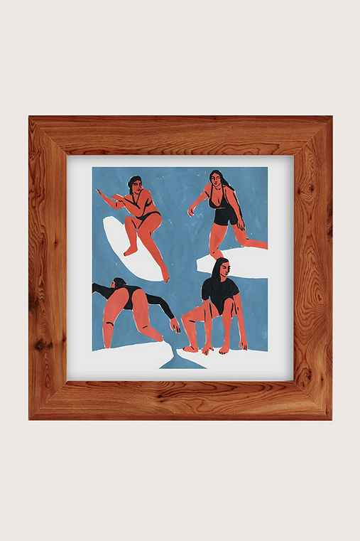 Leah Reena Goren Surfers Art Print,CEDAR,16X16