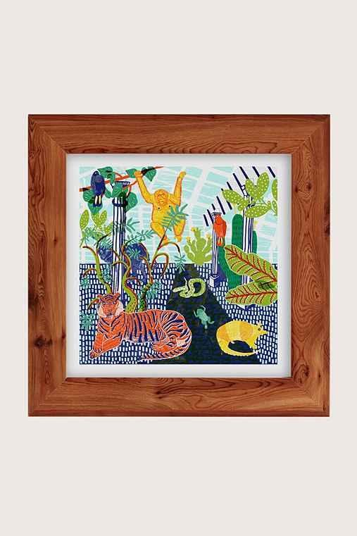 Camilla Perkins Jungle Art Print,CEDAR,16X16