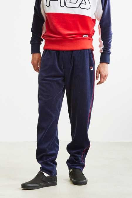 FILA Contrast Piping Velour Track Pant