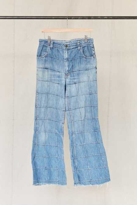 Vintage Patched Flare Jean
