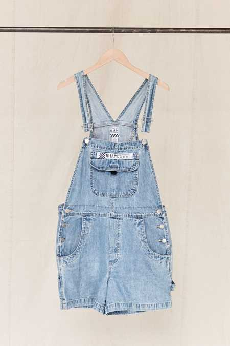 Vintage B.U.M. Equipment Denim Overall Short